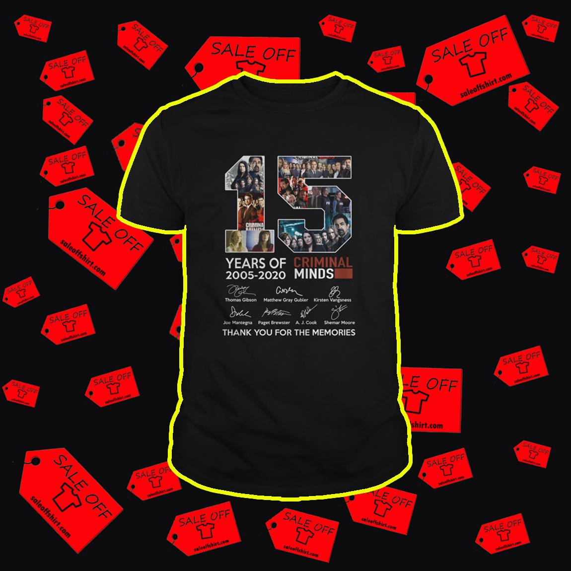 15 years of Criminal Minds 2005 2020 shirt