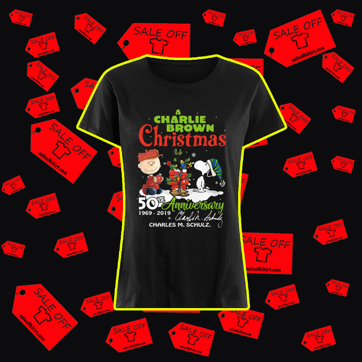 A Charlie Brown Christmas 50th Anniversary 1969 2019 Charles M. Schulz Signature shirt