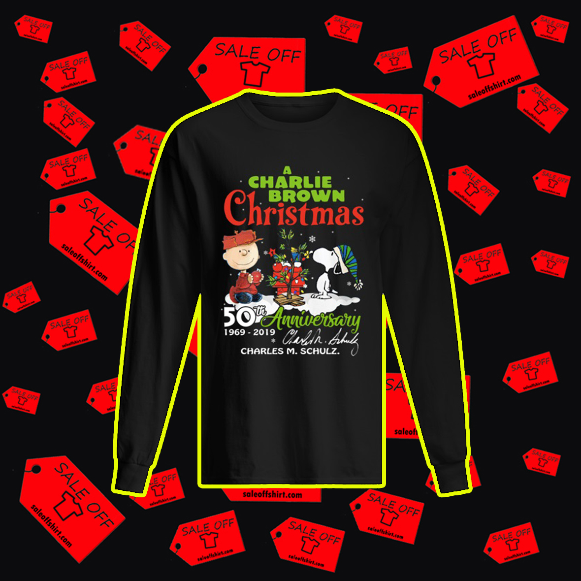 A Charlie Brown Christmas 50th Anniversary 1969 2019 Charles M. Schulz Signature sweatshirt