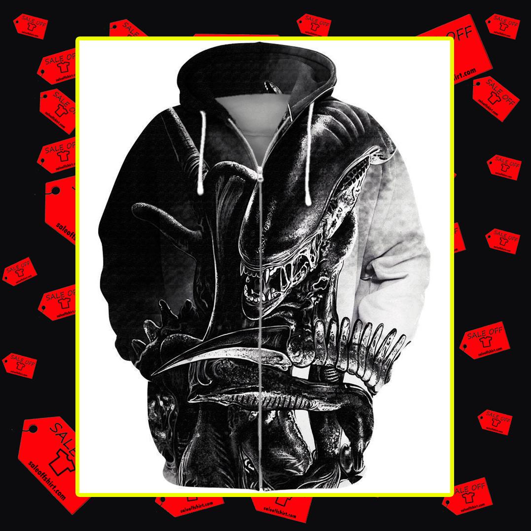 Alien 3d zip hoodie
