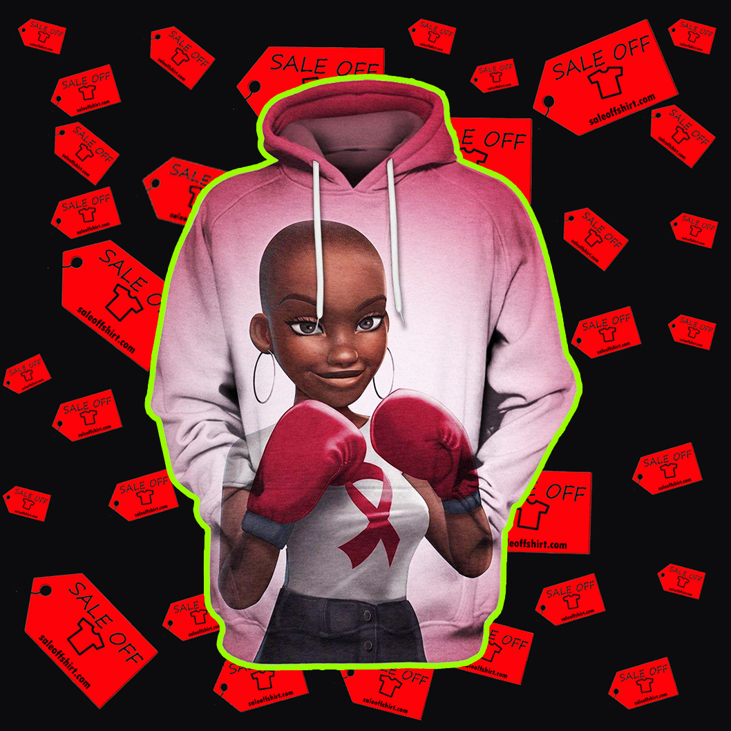 Black Girl Multi-color Melanin Warrior Fight Like A Girl 3d Hoodie