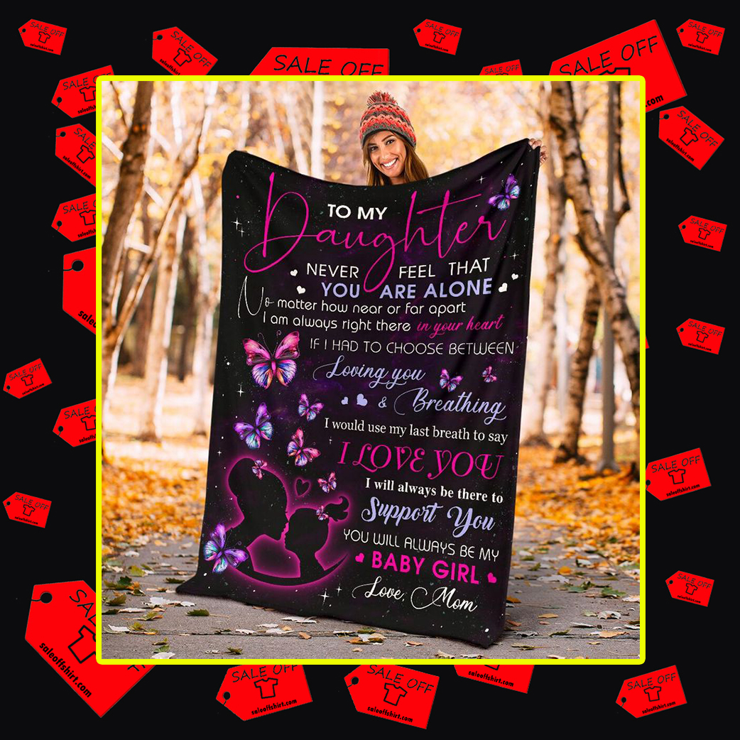 Butterfly To my daughter love mom blanket - large