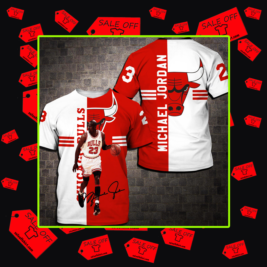 Chicago Bulls Michael Jordan Signature 3d T-shirt