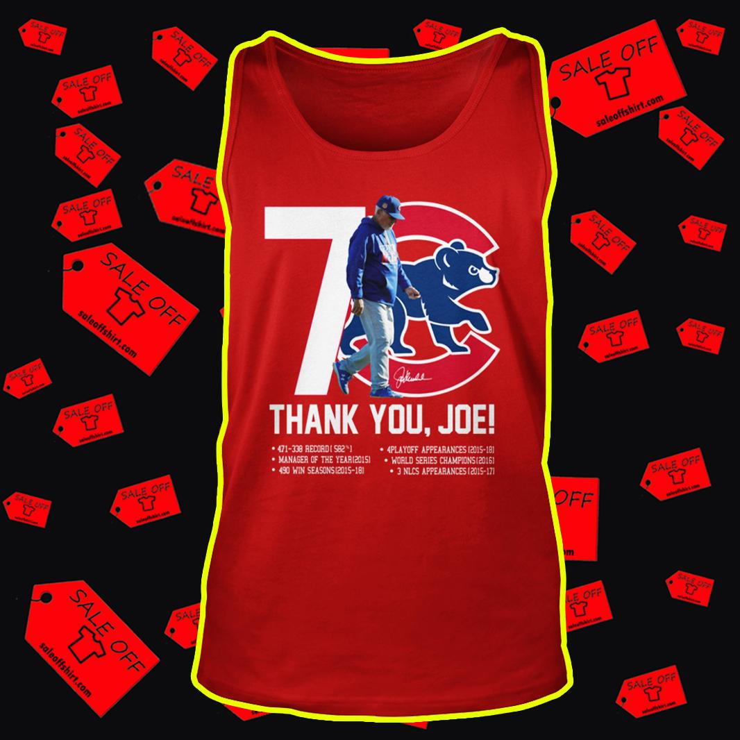 Chicago Cubs Thank You Joe Signature tank top
