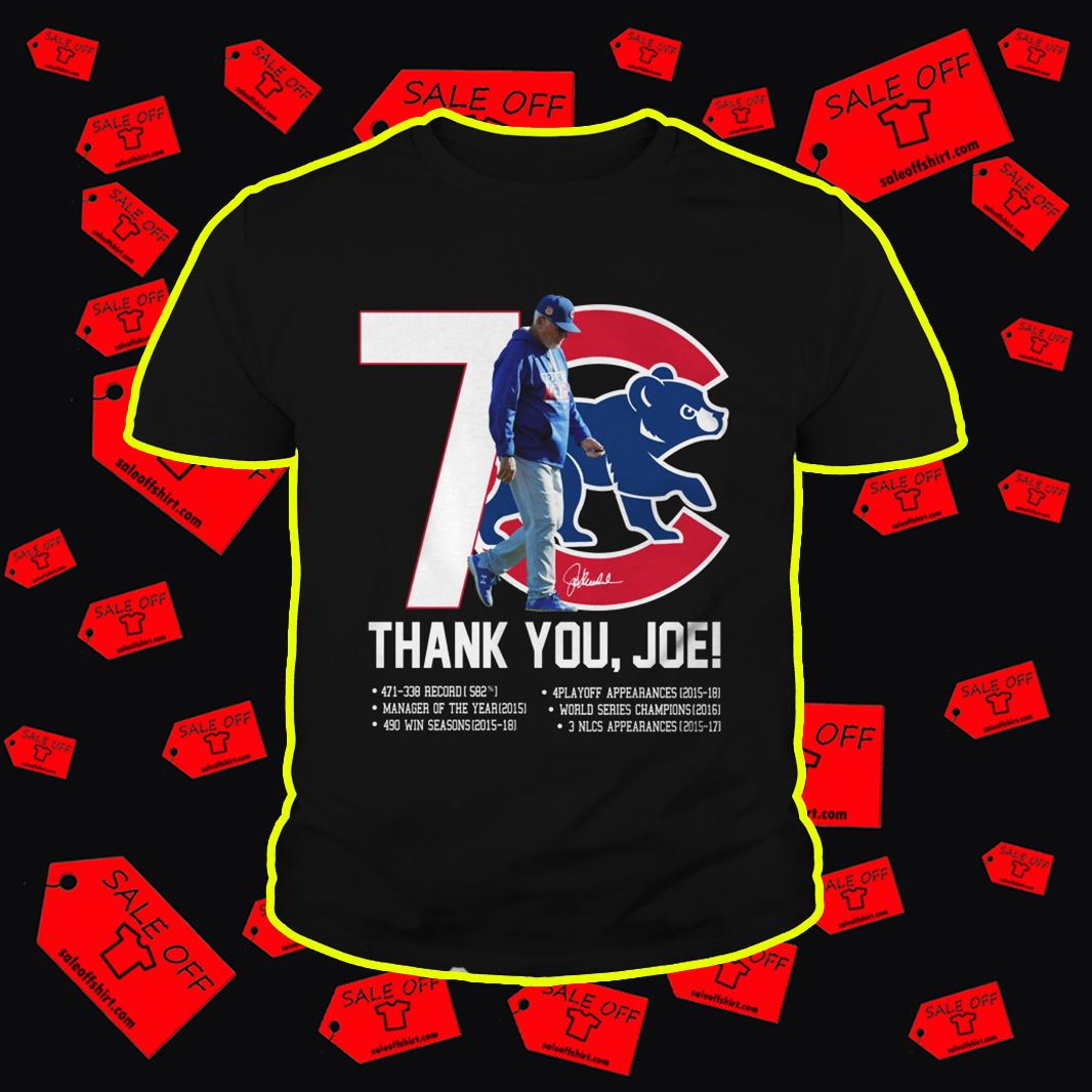 Chicago Cubs Thank You Joe Signature youth tee