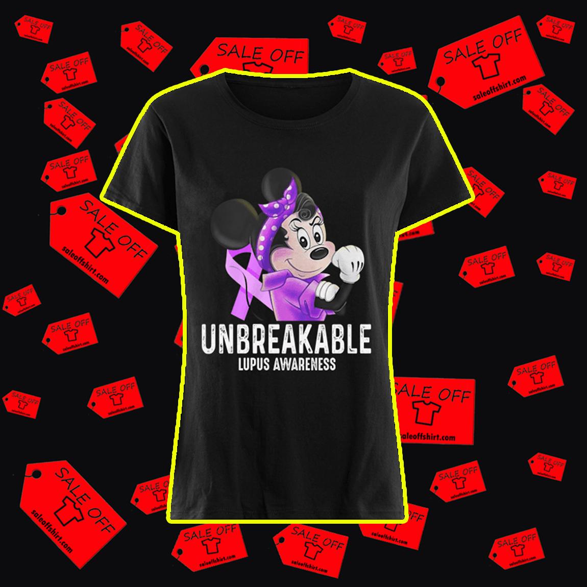 Disney Minnie Unbreakable Lupus Awareness shirt