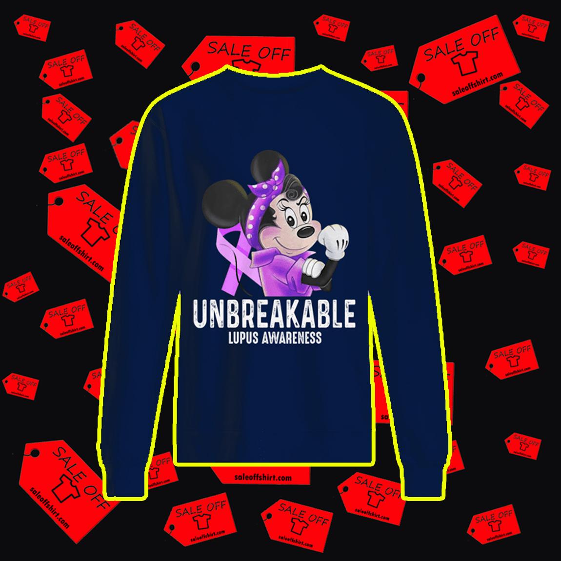 Disney Minnie Unbreakable Lupus Awareness sweatshirt