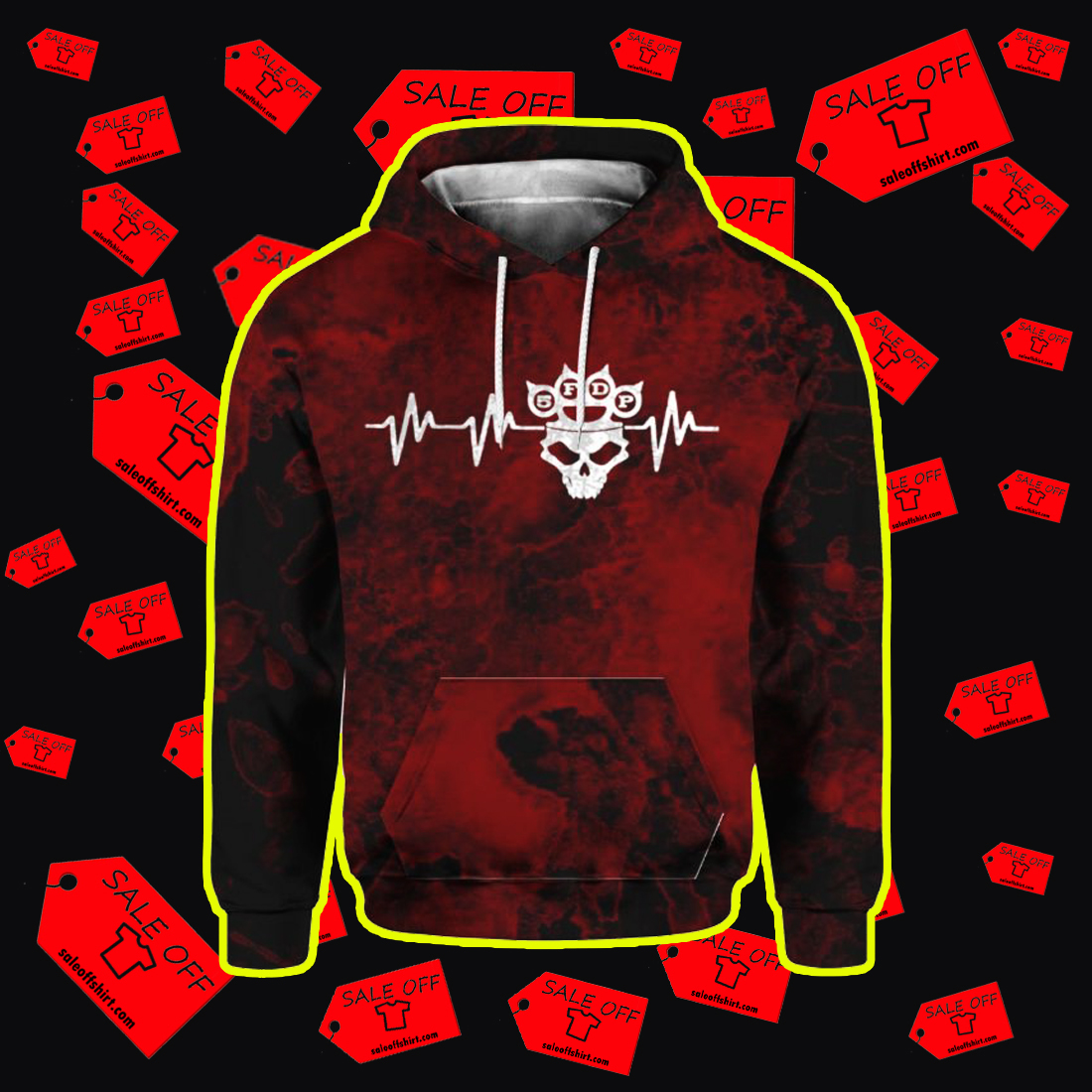 Five Finger Death Punch 5FDP I stand alone 3D Hoodie