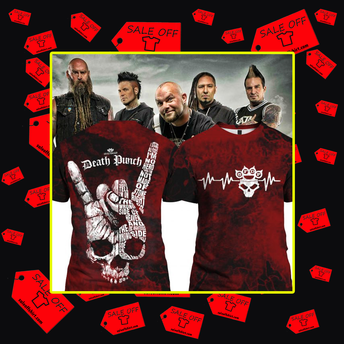 Five Finger Death Punch 5FDP I stand alone 3D T-shirt