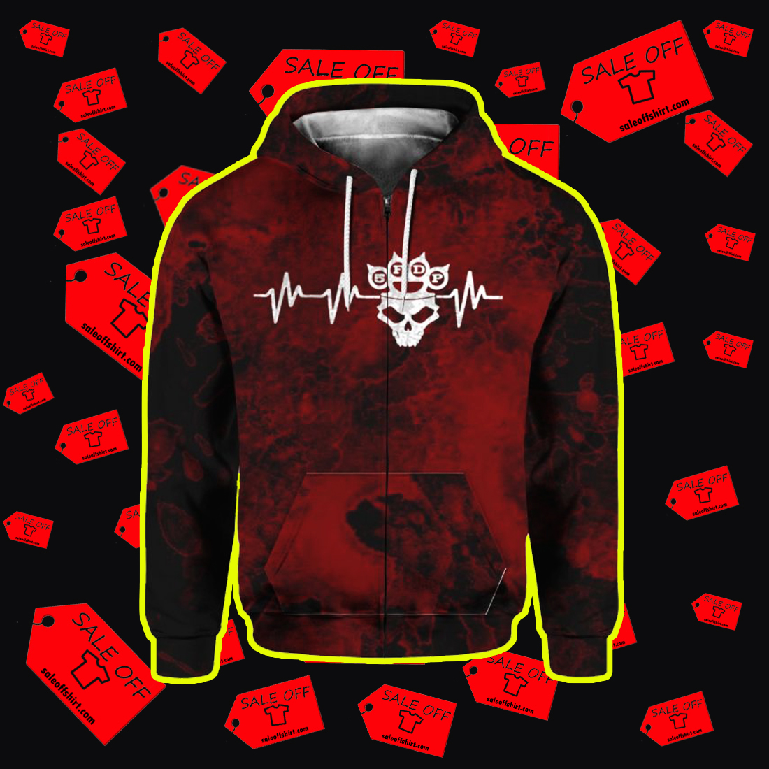 Five Finger Death Punch 5FDP I stand alone 3D Zip Hoodie