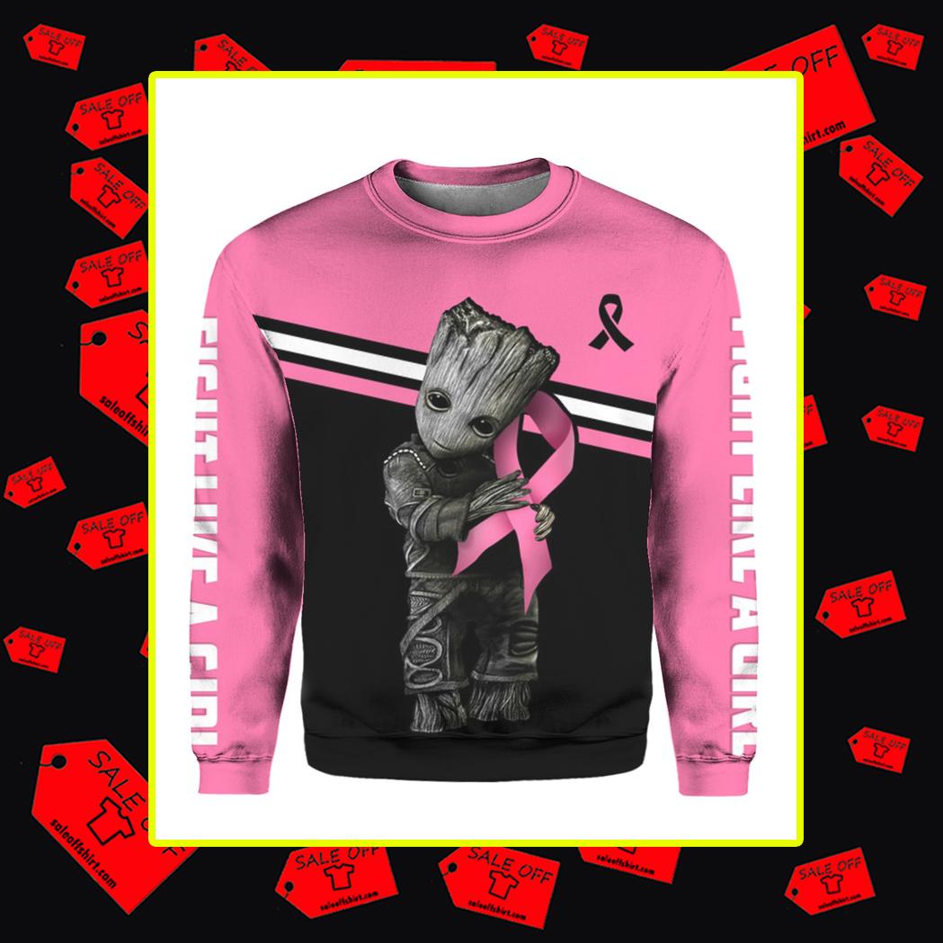 Groot Breast Cancer 3d sweatshirt