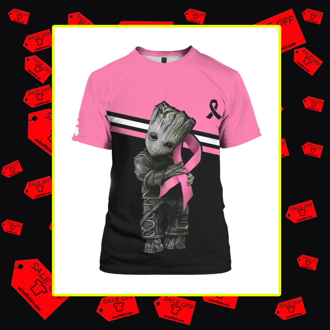 Groot Breast Cancer 3d t-shirt