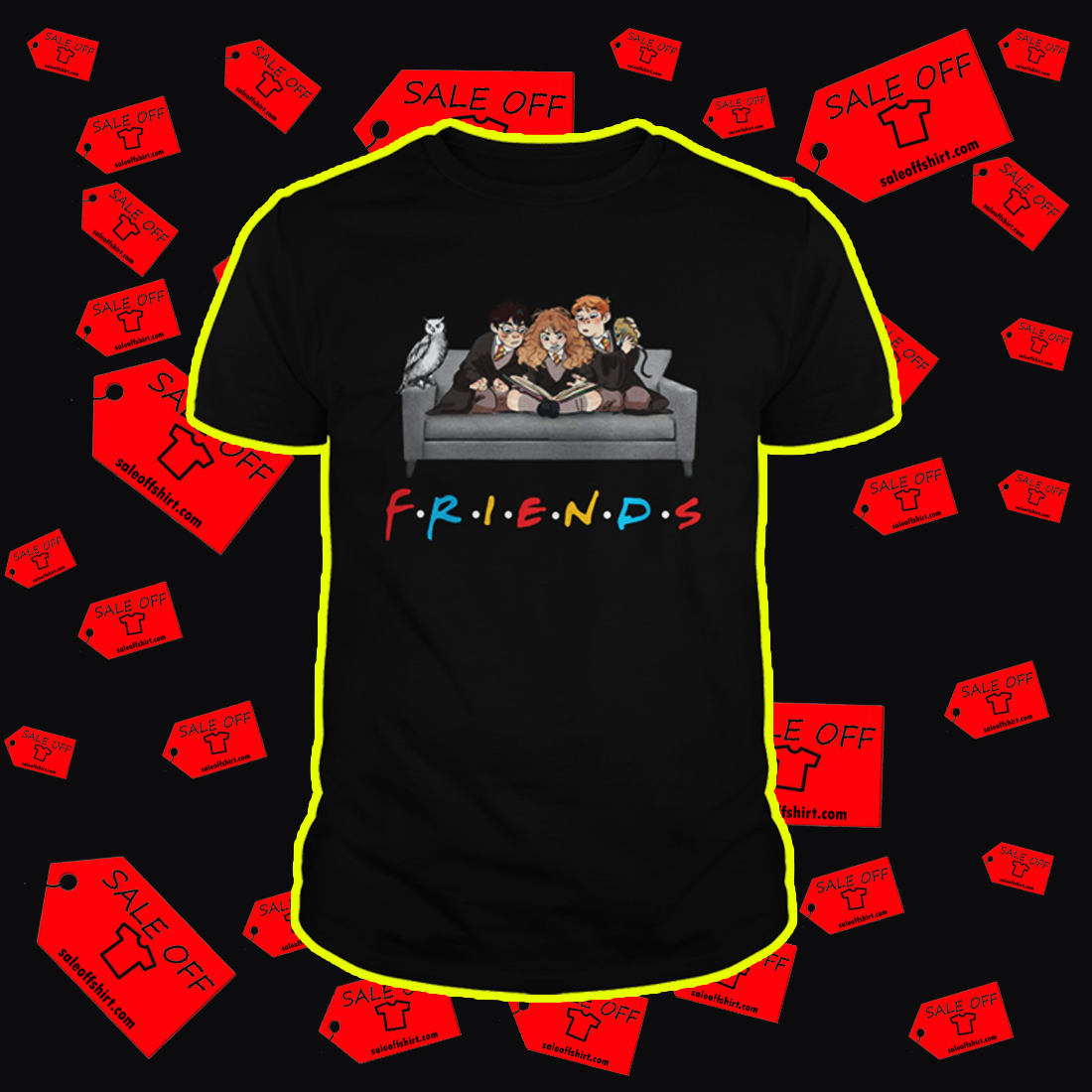 Harry Potter friends TV show shirt - style 2