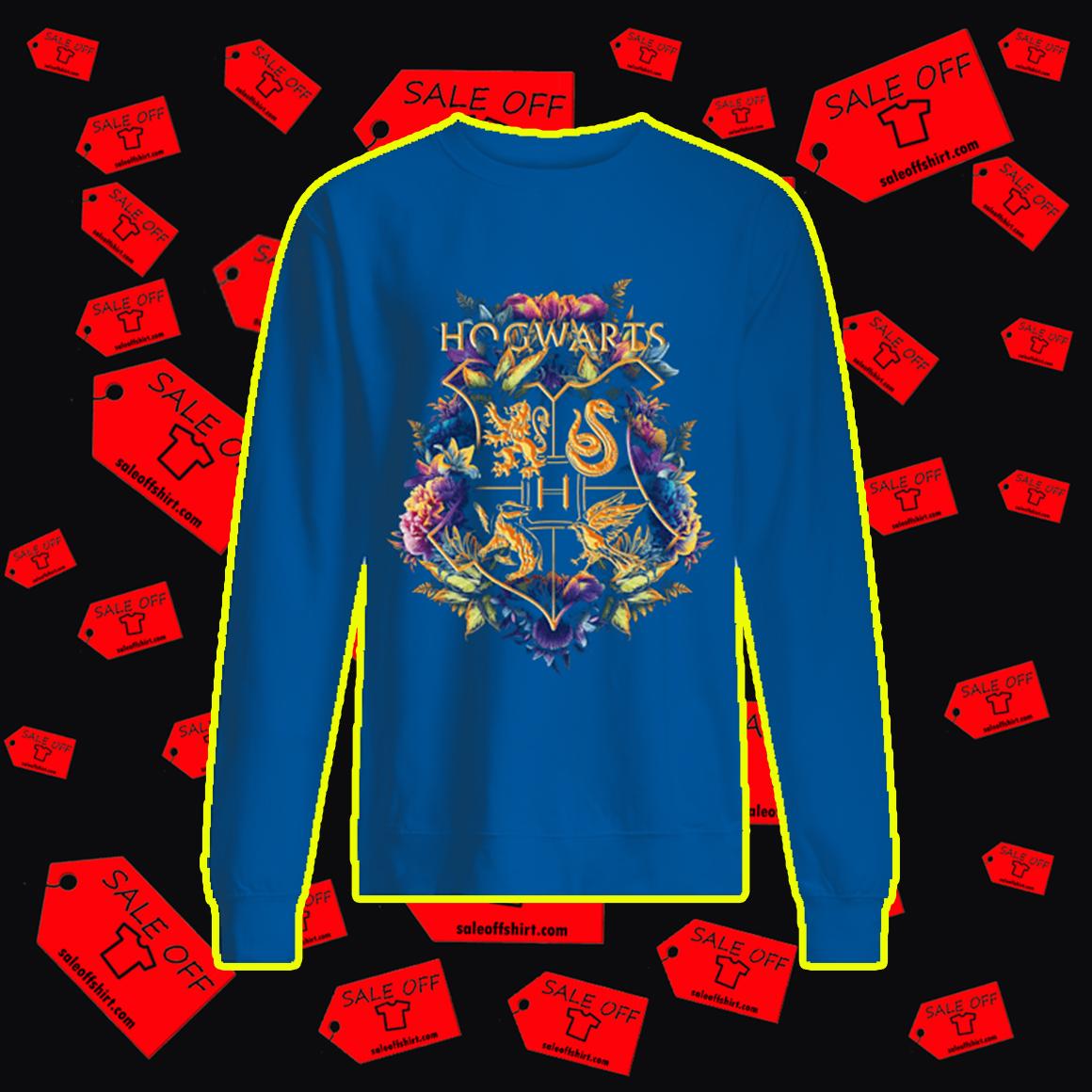 Hogwarts Emblem Flower sweatshirt