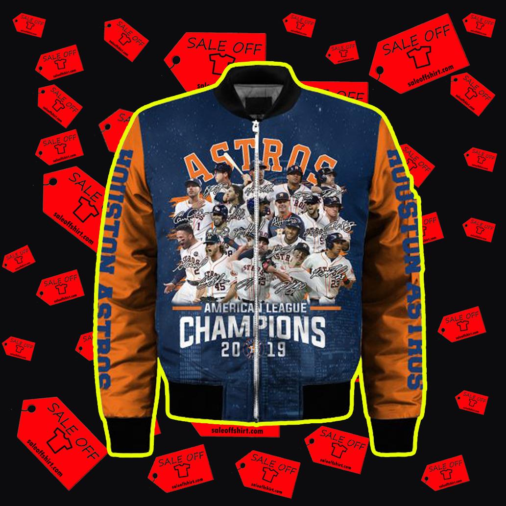 Houston Astros American League Champions 2019 3d Bomber