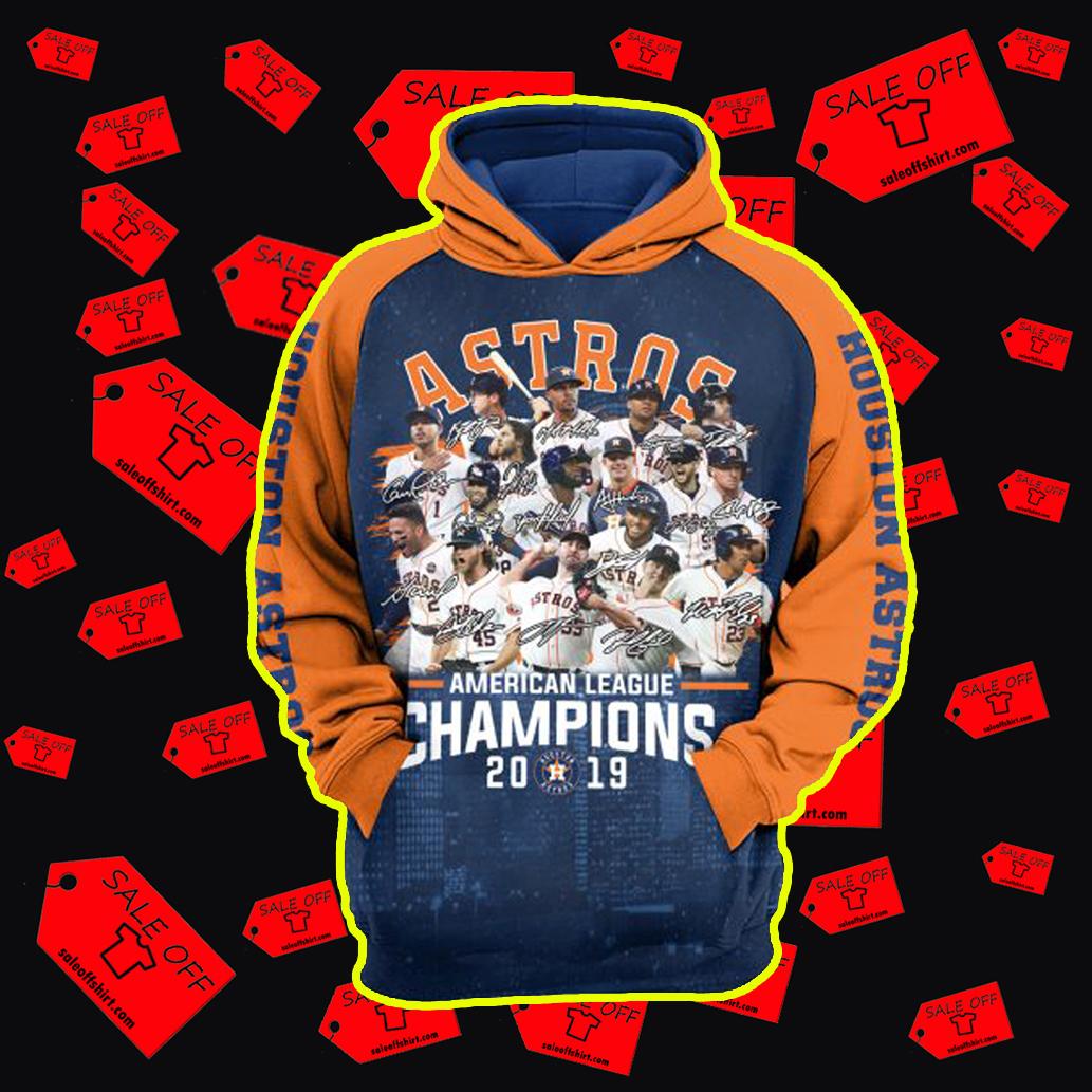 Houston Astros American League Champions 2019 3d Hoodie