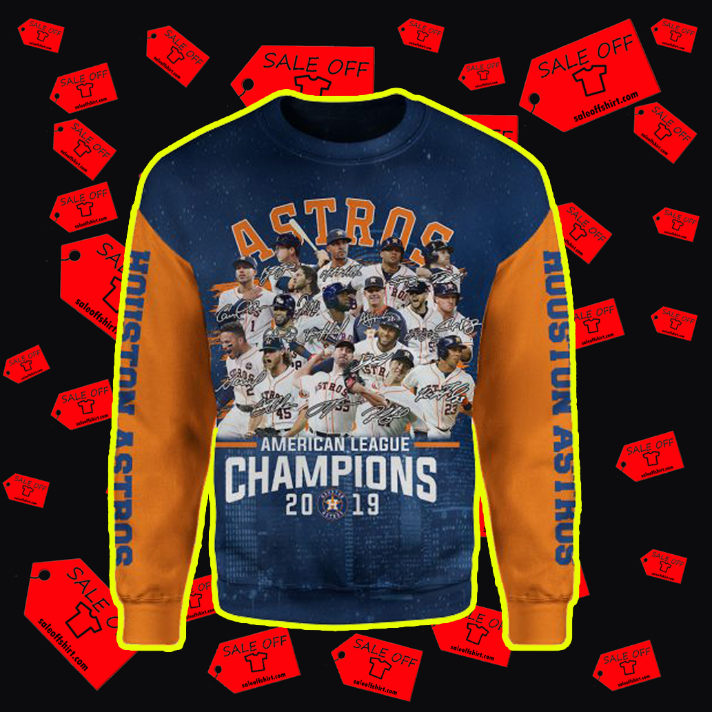 Houston Astros American League Champions 2019 3d Sweater
