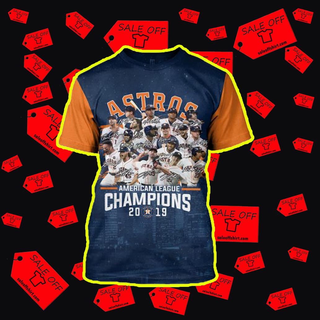 Houston Astros American League Champions 2019 3d T-shirt