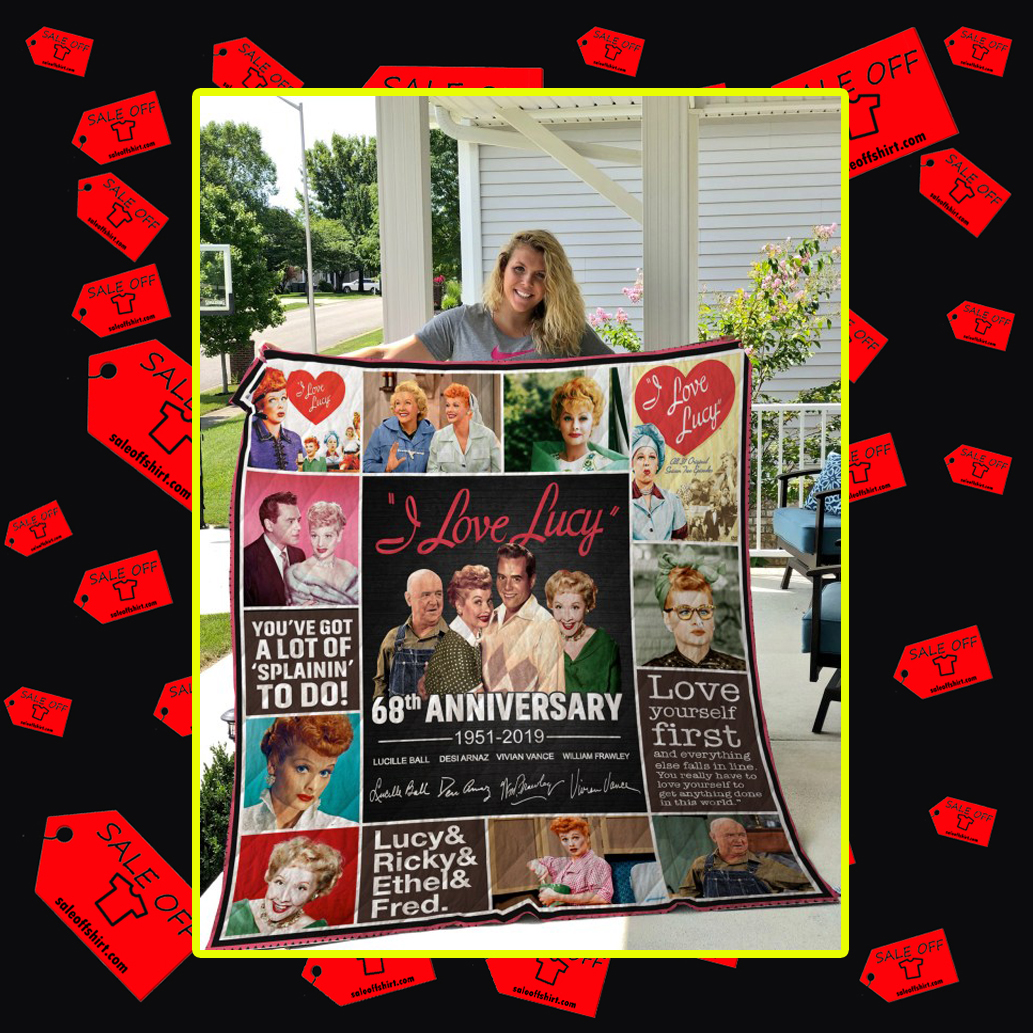 I love Lucy 68th Anniversary 1951 2019 Quilt-Twin