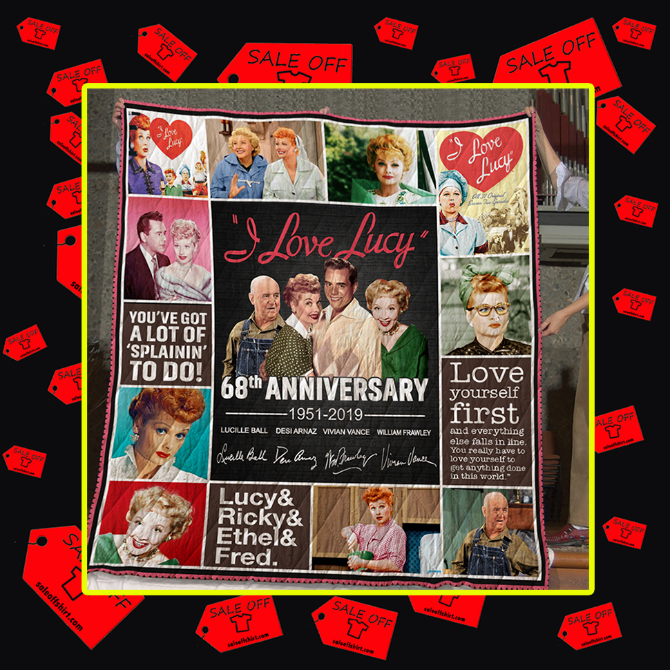I love Lucy 68th Anniversary 1951 2019 Quilt
