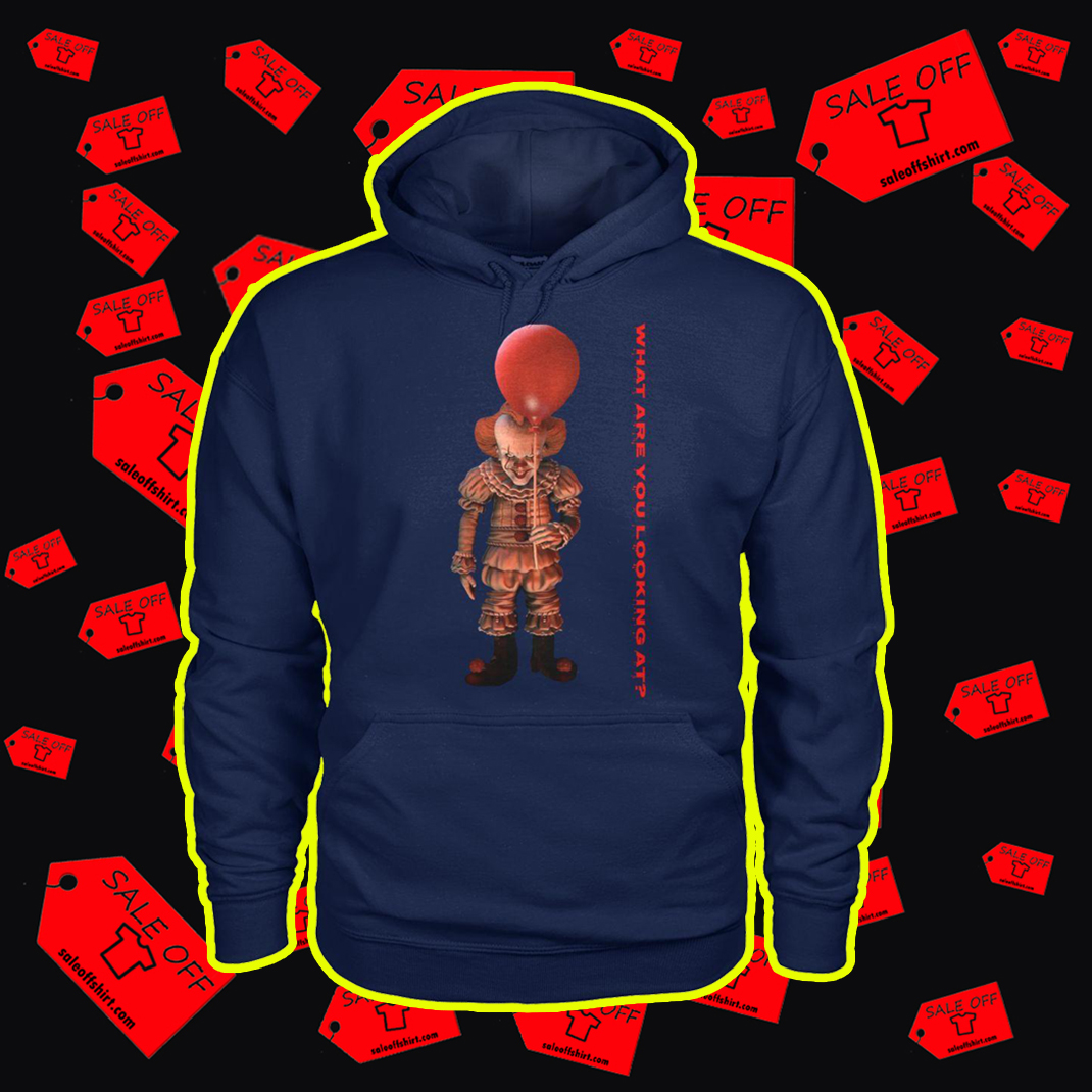 IT Pennywise What are you looking at hoodie - navy