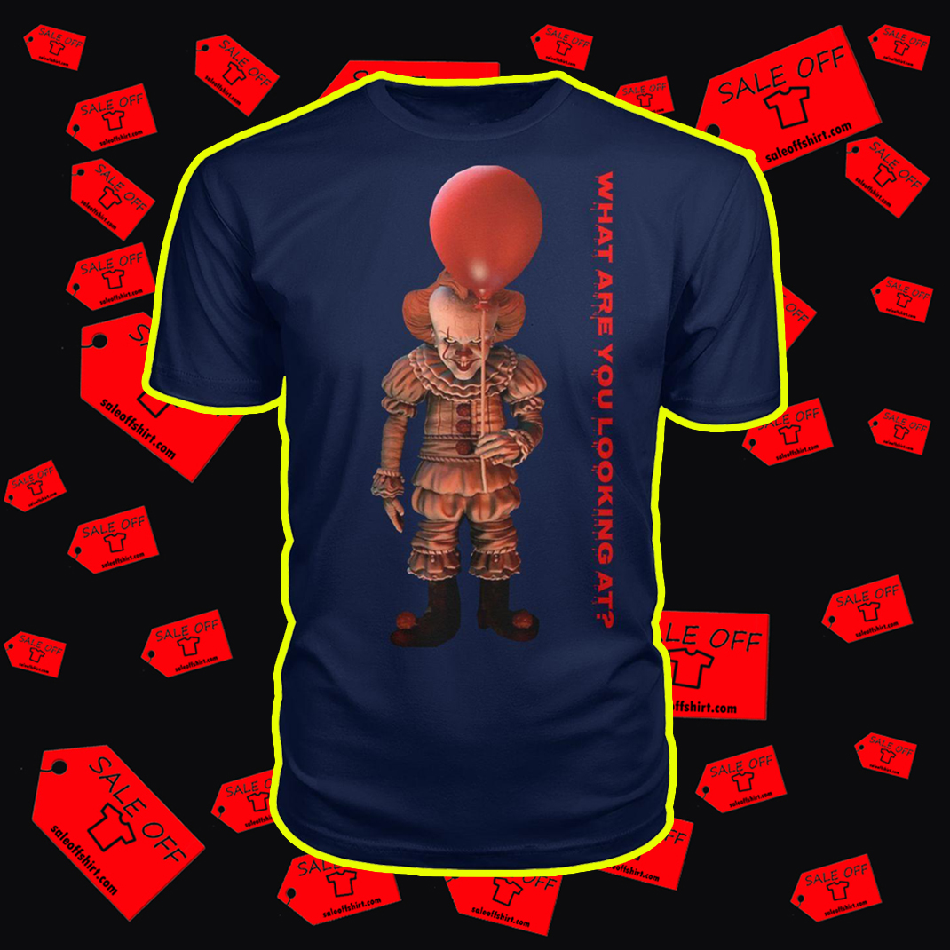 IT Pennywise What are you looking at shirt - navi