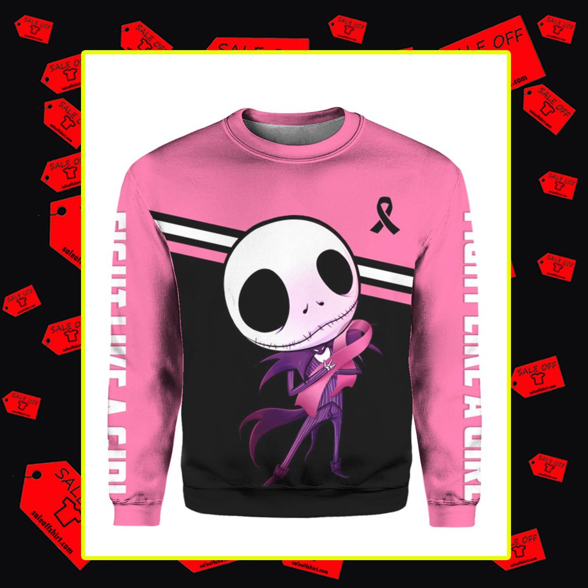 Jack Skellington Breast Cancer 3d sweatshirt