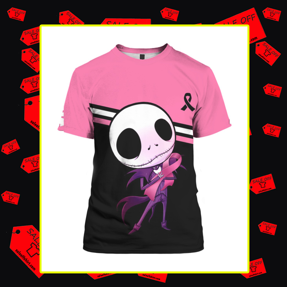 Jack Skellington Breast Cancer 3d t-shirt