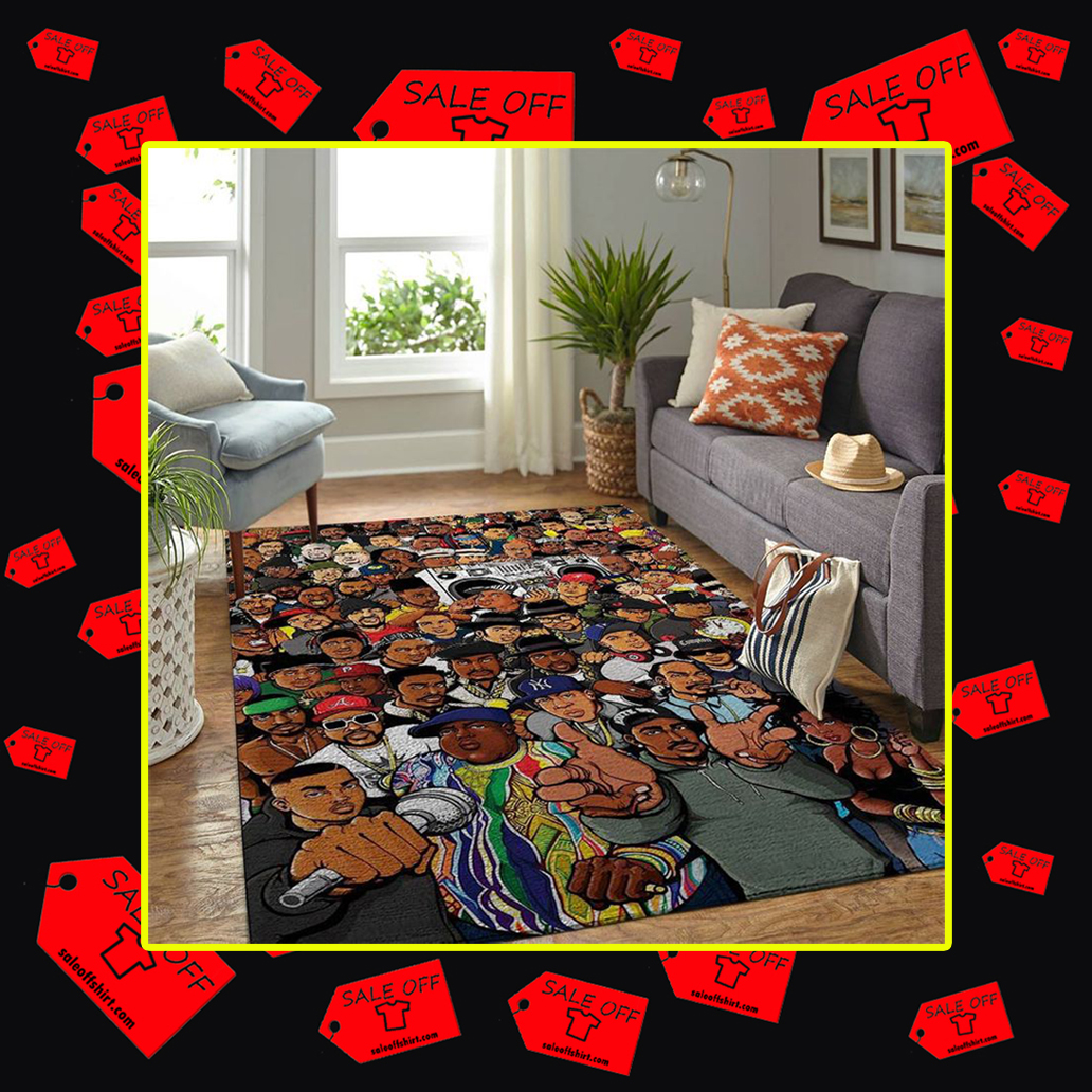 Jay-Z Tupac Notorious BIG rappers rug