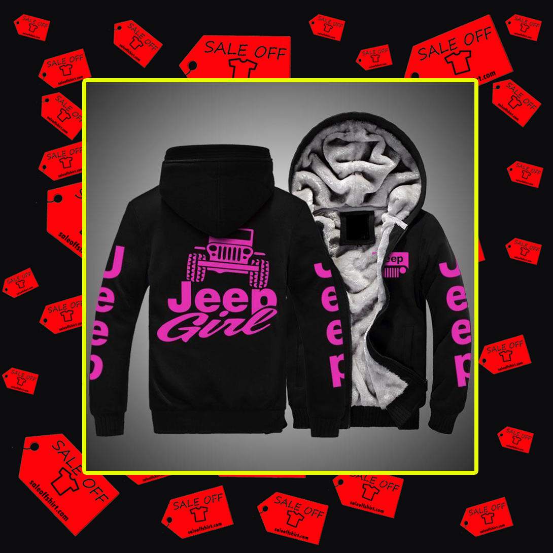Jeep girl Fleece hoodie-black