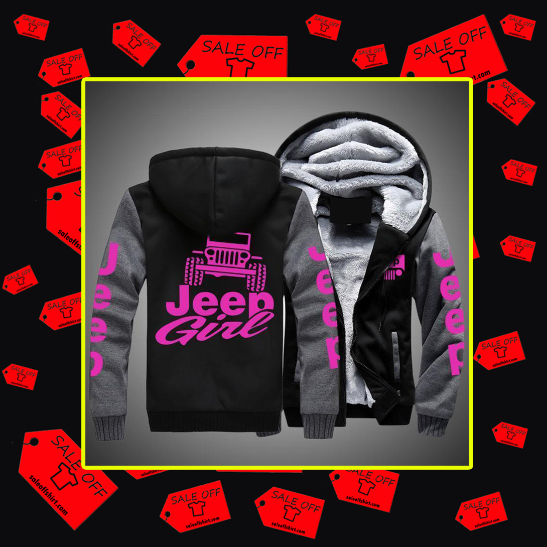 Jeep girl Fleece hoodie-grey