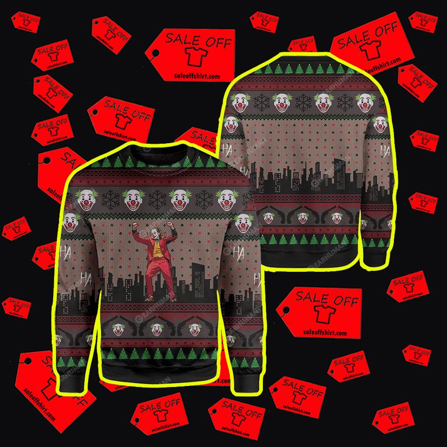 Joker 3D Full Print Christmas sweatshirt