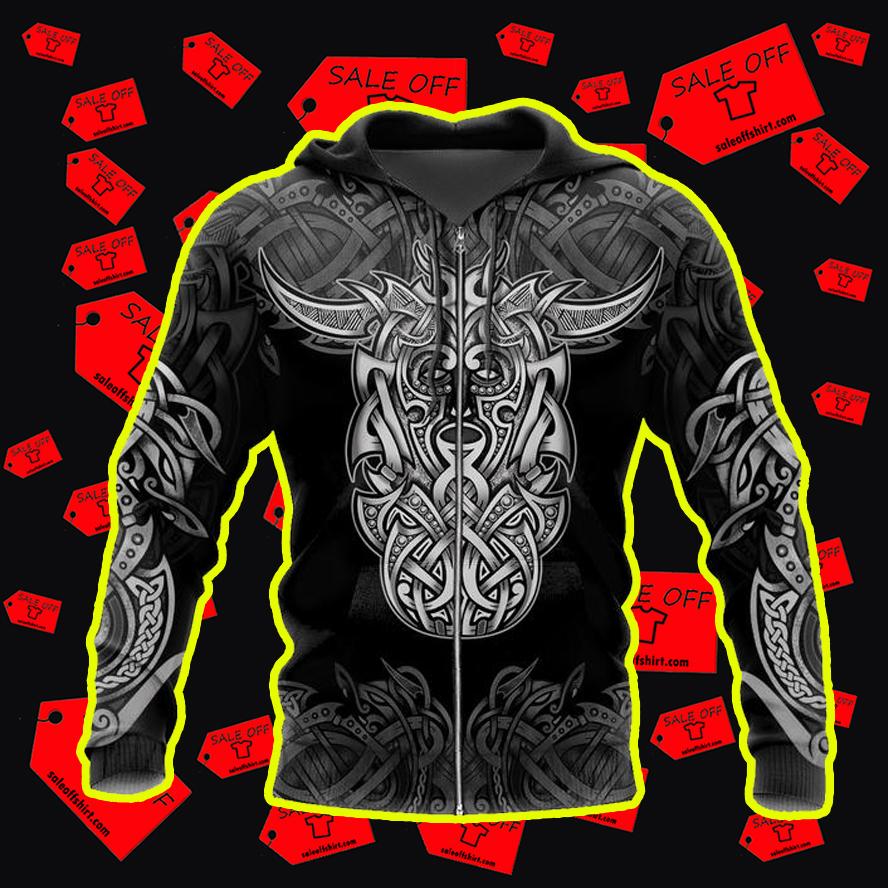 Loki Godmask All Over Printed 3d Zip Hoodie