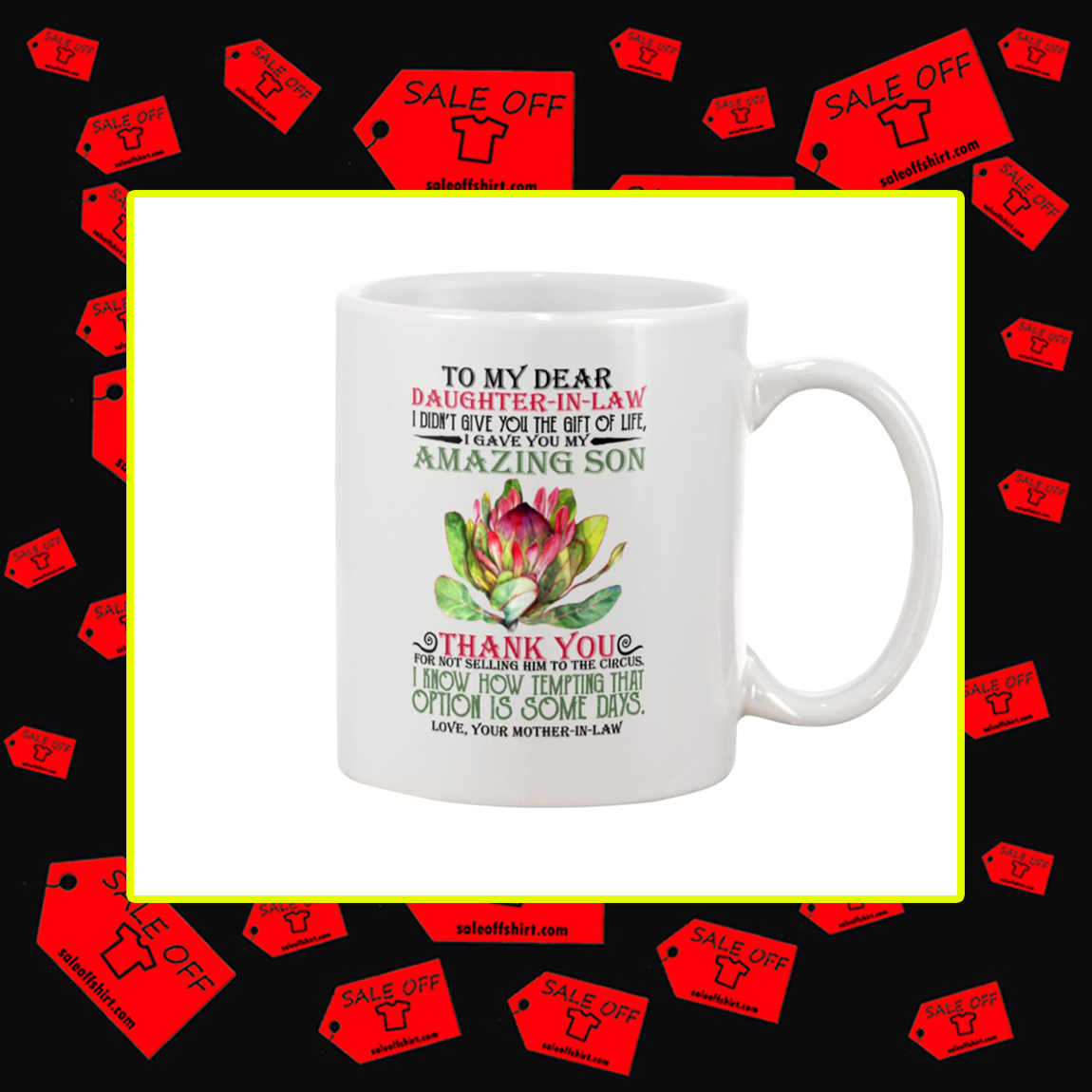Lotus To My Dear Daughter In Law Mother In Law Mug