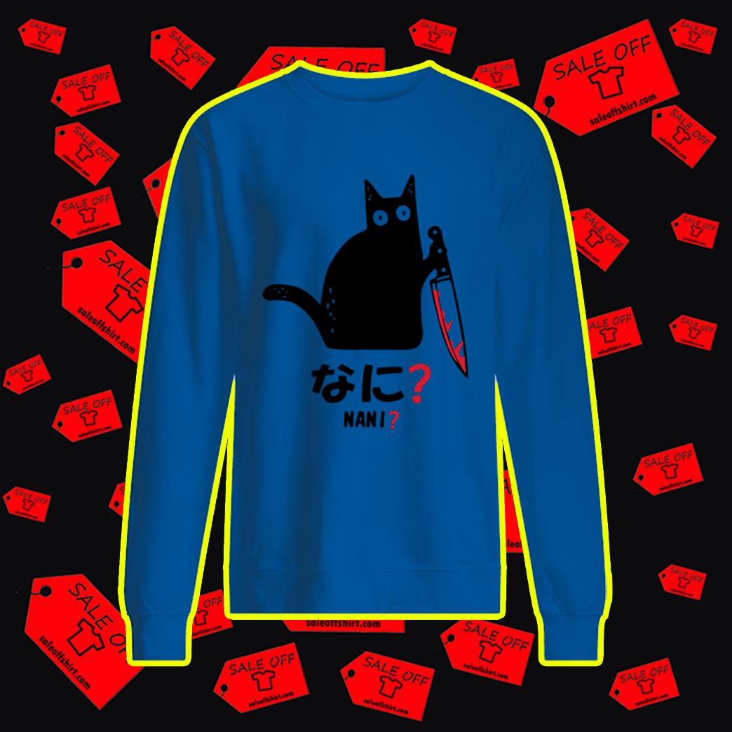 Murderous Black Cat Knife Nani sweatshirt