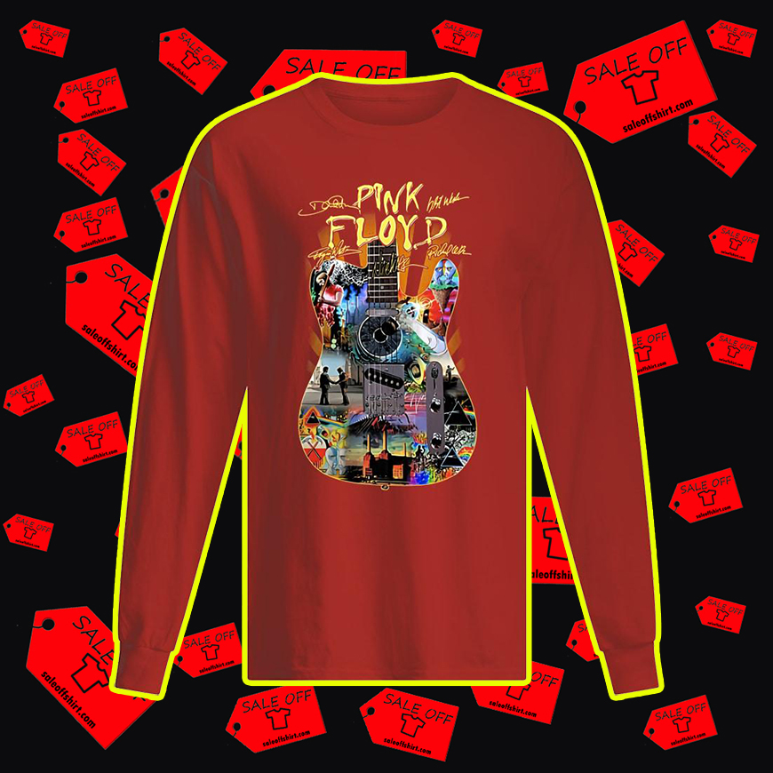 Pink Floyd Guitar All Member Signature long sleeved