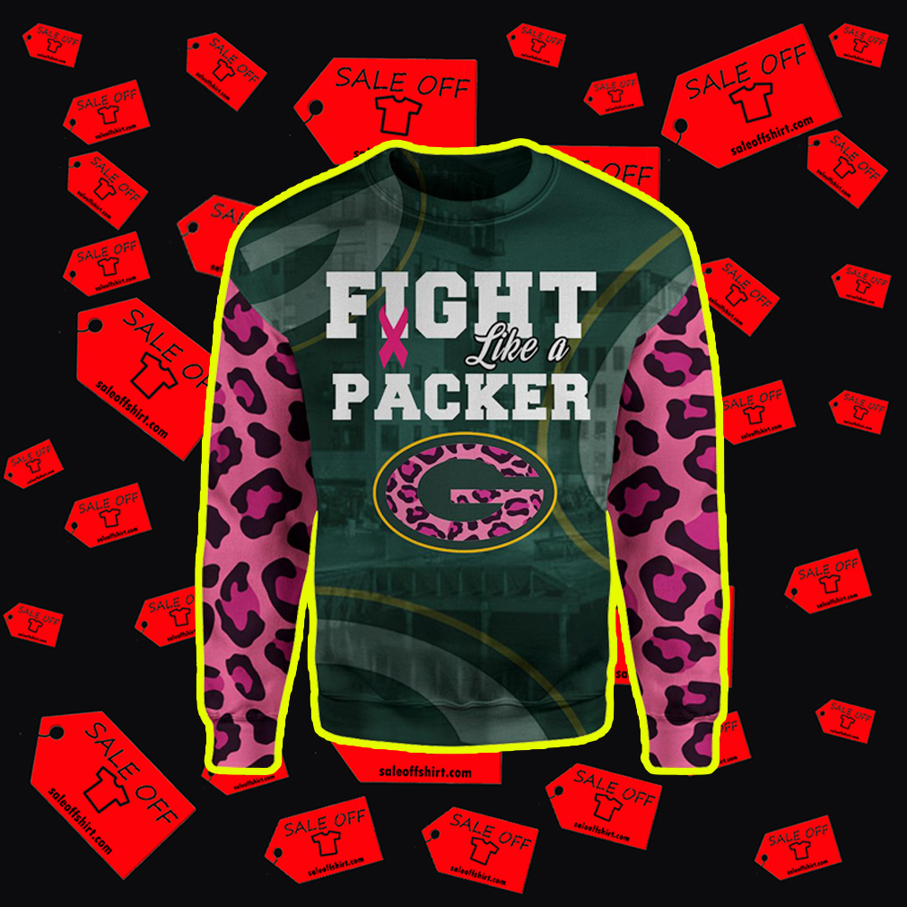 Pink Warrior Fight Like A Packer 3d sweater
