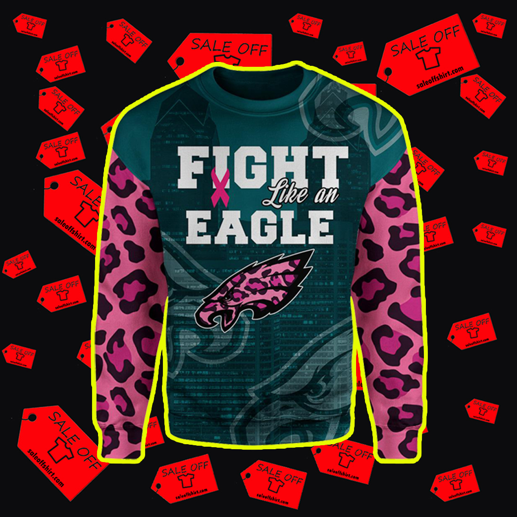 Pink Warrior Fight Like An Eagle 3d sweater