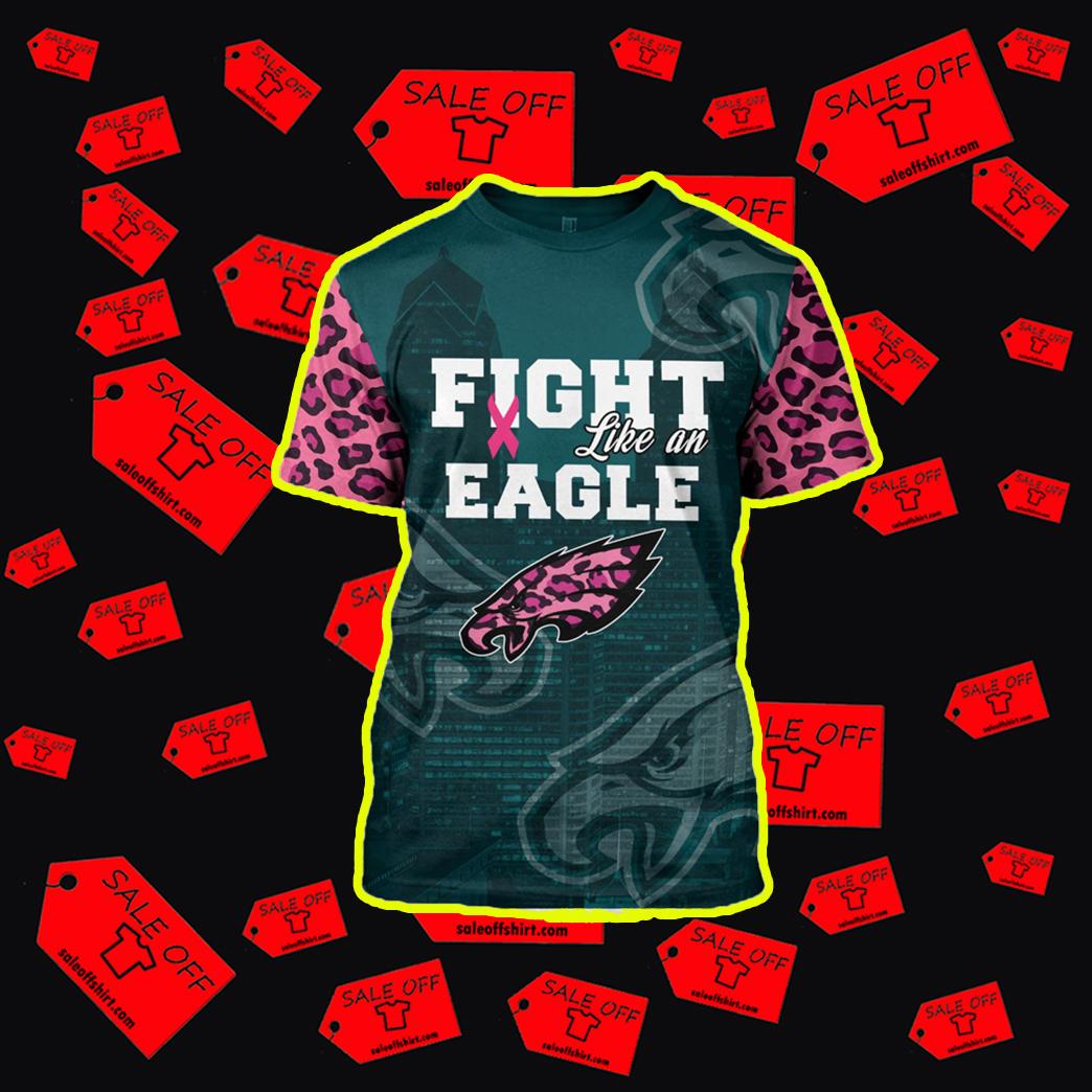 Pink Warrior Fight Like An Eagle 3d t-shirt