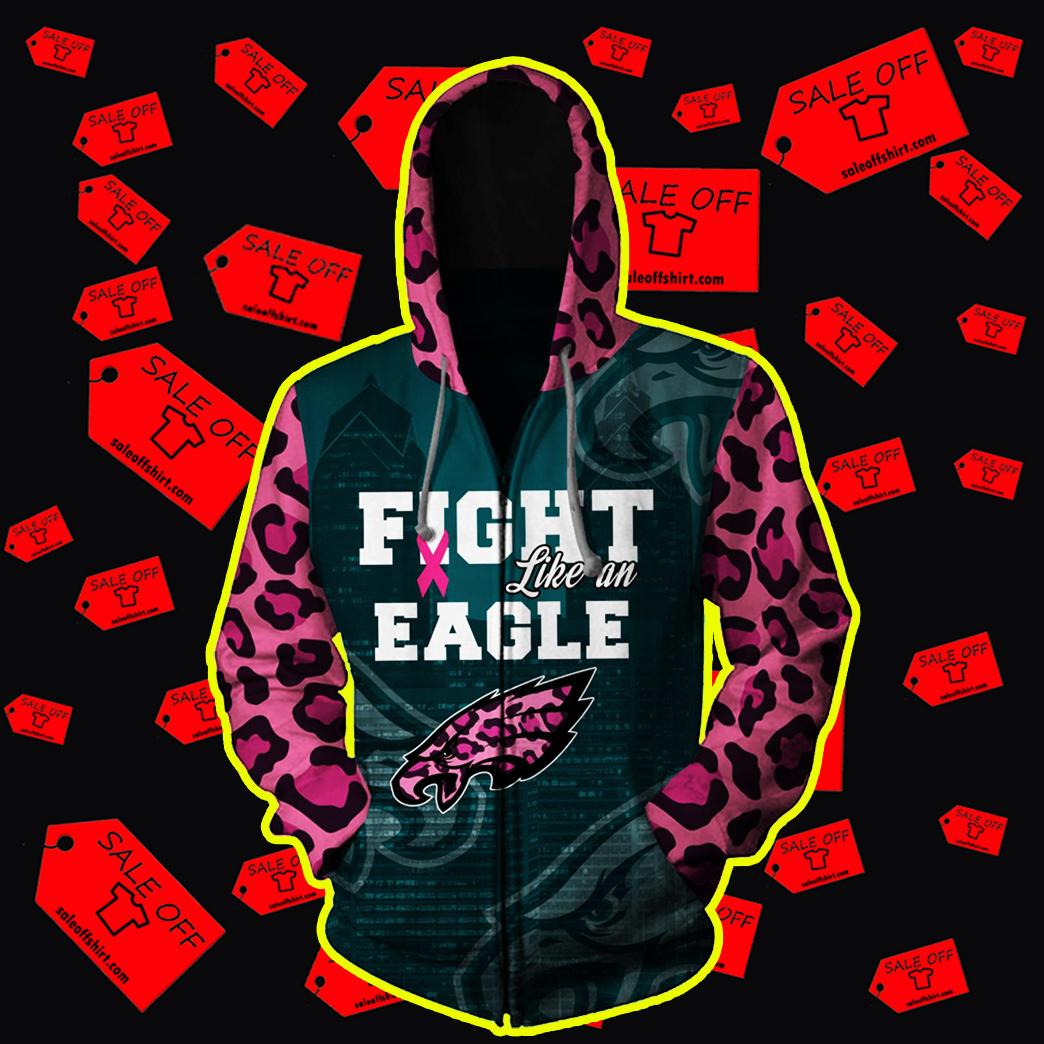 Pink Warrior Fight Like An Eagle 3d zip hoodie