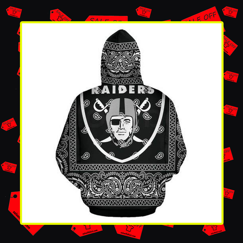 Raiders All Over Printed 3d hoodie-back