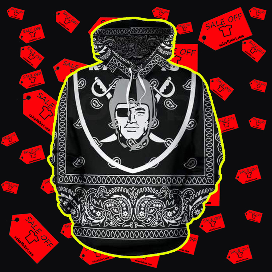 Raiders All Over Printed 3d hoodie-front