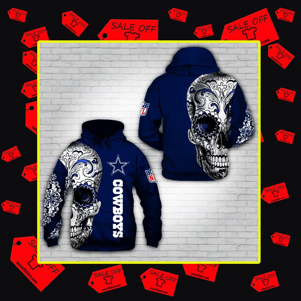 Sugar Skull Dallas Cowboys 3d hoodie