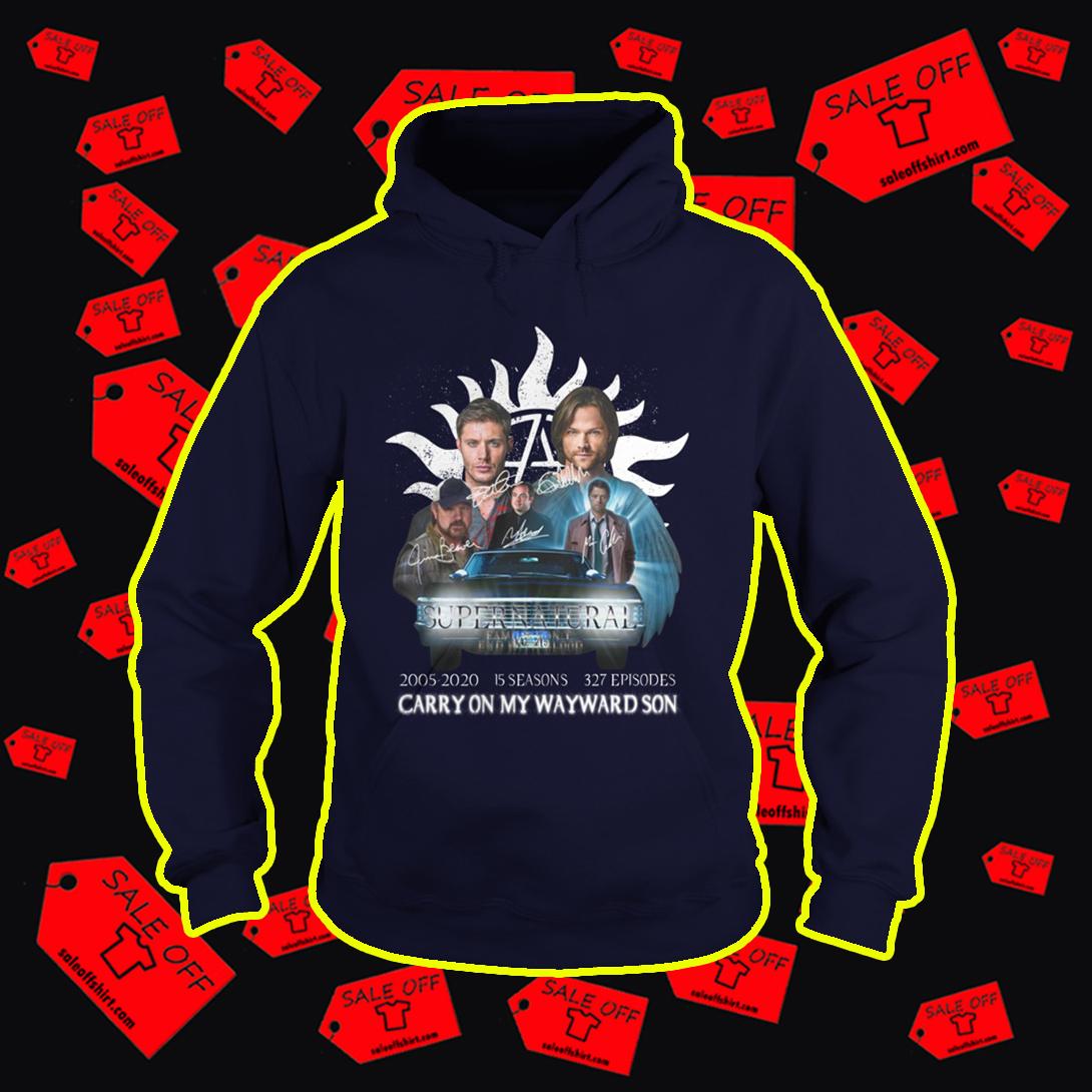 Supernatural 2005 2020 Carry On My Wayward Son hoodie