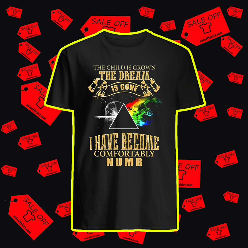 The Child is Grown The Dream is Gone I Have Become Comfortably Numb shirt - style 2