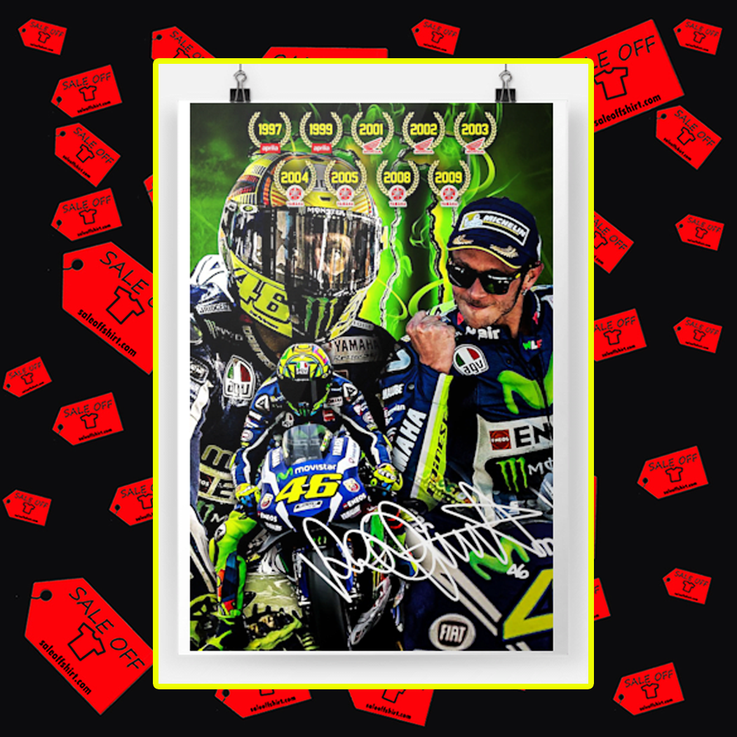 Valentino Rossi VR46 Signature Poster