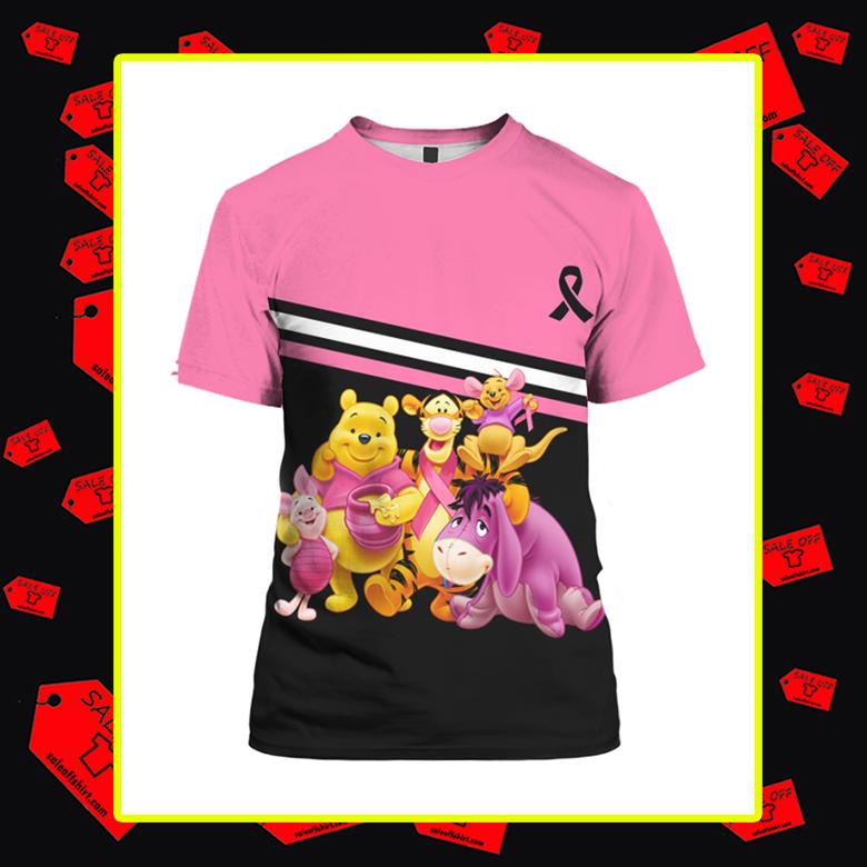 Winnie the Pooh Breast Cancer 3d t-shirt