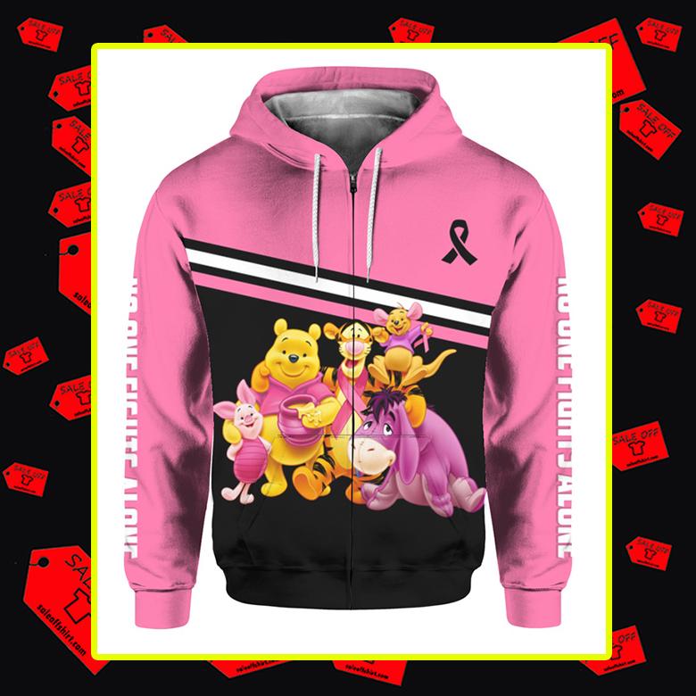 Winnie the Pooh Breast Cancer 3d zip hoodie
