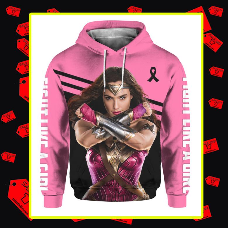 Wonder Woman Breast Cancer 3d hoodie