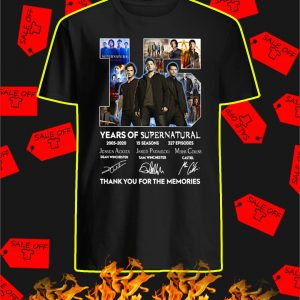 15 Years Of Supernatural 2005 2020 shirt